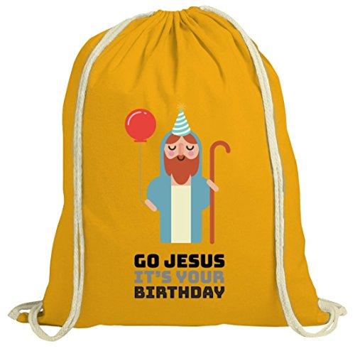 Borsa Natura Natalizia Con Go Gesù È Il Tuo Motivo Di Compleanno Dalla Natura Gialla