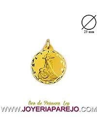 Medalla Virgen de las Angustias Oro 18K. 750Mls. 23Mm.