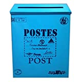 Brief Post Box Wand Wasserdicht Postfach Mit Dekorative Box, Blau Gro? Word