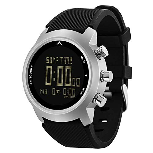 Delisouls Herren Digital Sports Uhr, Taucher Wasserfest Uhr, 100m Smart Digital Freizeit Handgelenk Armbanduhren Fitness Sport Kompass für Tauchen -