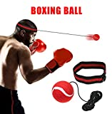 Boxen Reflex Ball - Fight Ball Reflex Training, Sport Boxing Punch Ball auf Schnur mit Stirnband Trainingsgeschwindigkeit Reaktionen Punch Fokus für Erwachsene / Kids Gym Boxen MMA