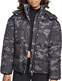 Urban Classics Damen Jacke Ladies Boyfriend Camo Puffer Jacket, Mehrfarbig (Darkcamo 00707), X-Small