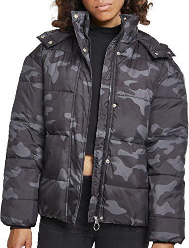 Urban Classics Ladies Boyfriend Camo Puffer Jacket Giacca, Multicolore (Darkcamo 00707), X-Small Donna