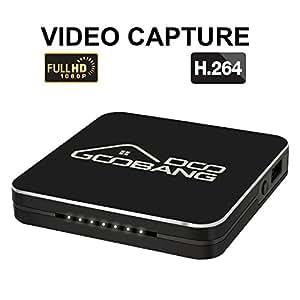 Game capture HD,Videoregistratore/Video Capture 60 fps 1080P Registra il gioco o il video da Xbox / PS4/PS3/TV/PC