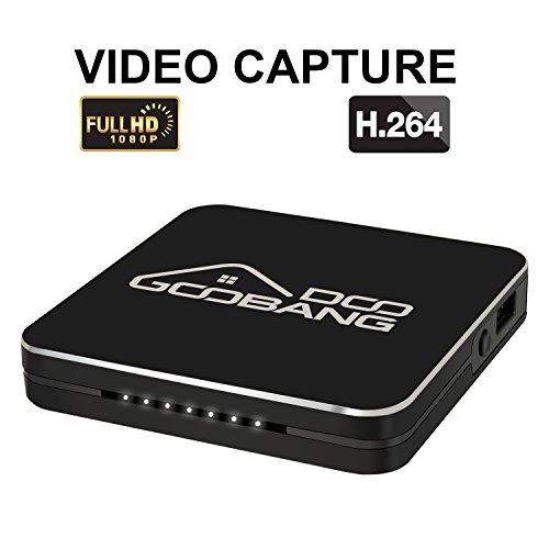 Globmall HD-Game-Capture-Box, HDMI-Video- Konverter/Recorder 1080p für PlayStation 4, PS3/ PS4, Xbox One und Xbox 360; Gerät zur Gameplay-Aufnahme, unterstützt Mikrofon-Eingang Video-capture-box