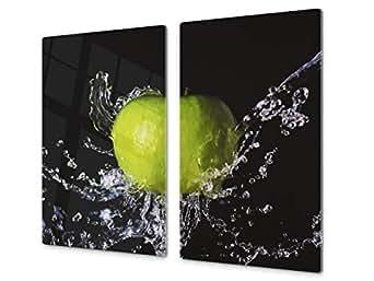 couvre plaques de cuisson en verre tremp prot ge plan de travail et planche p tisserie. Black Bedroom Furniture Sets. Home Design Ideas