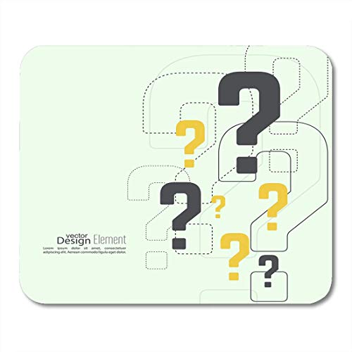 Mouse Pads Ask Who Question Mark Help Symbol FAQ Sign on Answer Confuse Mouse Pad for notebooks,Desktop Computers mats Office Supplies