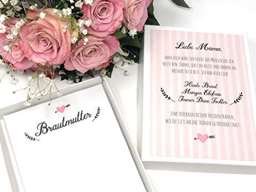 Geschenk Brautmutter - Stofftaschentuch für Freudentränen (Braut-taschentuch Der Mutter)