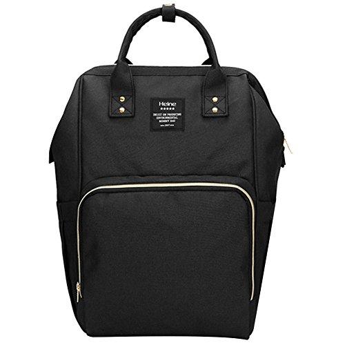 Poliking Wickeltasche Rucksack für Babypflege, multifunktionale Baby Wickeltasche mit isolierten Taschen, wasserdichtes Gewebe, große Kapazität