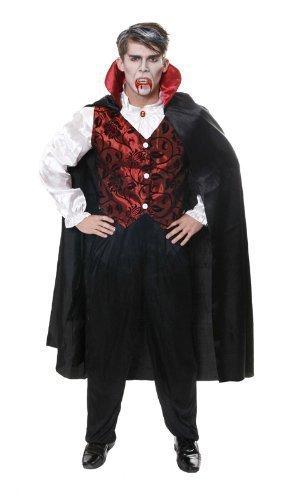 Erwachsene Dracula Halloween Kostüm Blutsaugender Vampir - Größe ()