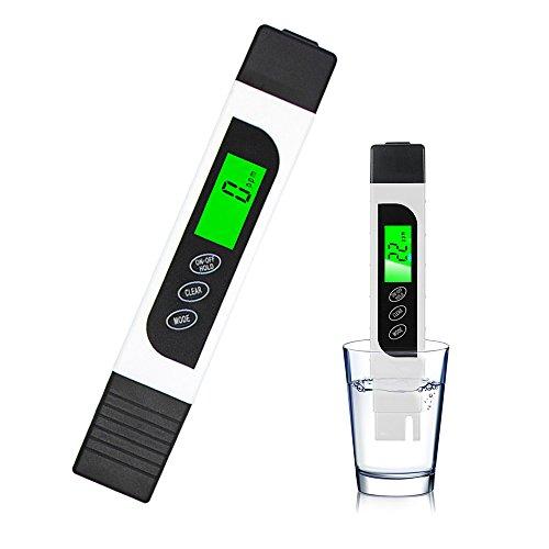 Digitale Wasserqualität Tester, Skitic 3-in-1 Wassertester TDS, EC und Temperaturmessgerät Ideal für Trinkwasser Getränk Qualitätsüberwachung Aquarium Schwimmbäder