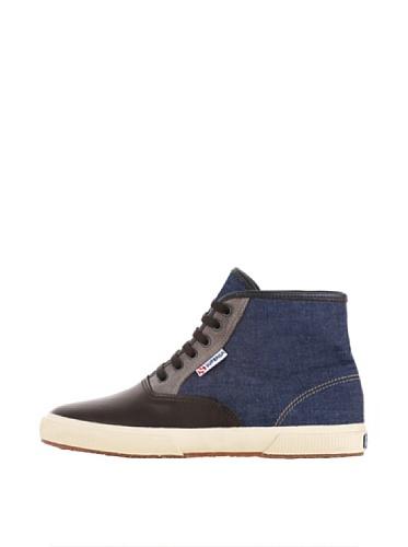 Sneakers - 2098-jnsfglu BLUE-DARK CHOCOLATE