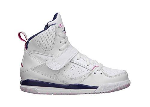 Nike Air Jordan Girls Flight 45 High PS Kids Trainers 524863 Sneakers Shoes (UK 11.5 Us 12C EU 29.5, White Firebird Night Blue 116) - Air Jordan Flight