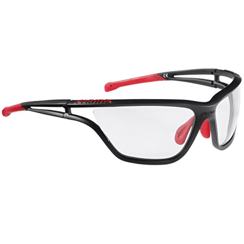 Alpina Sonnenbrille Performance EYE-5 VL+ black matt-Red