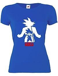 GIOVANI & RICCHI Damen Super Son Goku Fitness Shirt T-Shirt Saiyajin in verschiedenen Farben
