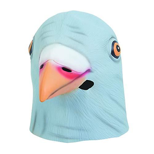 0 Taube Maske aus Latex, Grau, Unisex- Erwachsene, Einheitsgröße ()