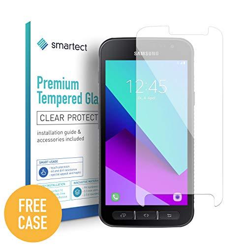 smartect Panzerglas kompatibel mit Samsung Galaxy Xcover 4 [2 Stück + Gratis Case] - Displayschutz mit 9H Härte - Blasenfreie Schutzfolie - Anti Fingerprint Panzerglasfolie