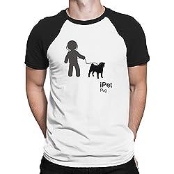 Teeburon I PET Pug Camiseta Raglan