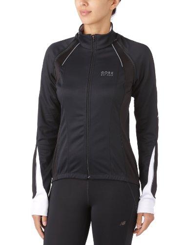 Gore Bike Wear 3 in 1 Damen Soft Shell Rennrad-Jacke, GORE WINDSTOPPER, PHANTOM LADY 2.0 Jacket, Größe: 40, Schwarz/Weiß, JWPHAL