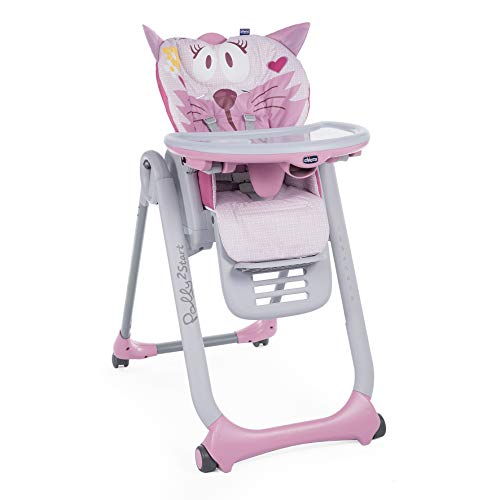 Chicco Polly 2 Start Seggiolone con 4 Route, Miss Pink