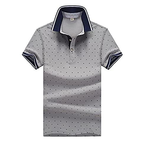 WALK-LEADER - Polo - À Pois - Homme - gris - X-Small