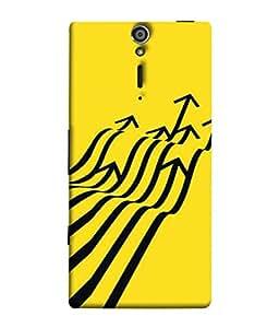 Fuson Designer Back Case Cover for Sony Xperia SL :: Sony Xperia S :: Sony Xperia SL LT26I LT26ii (Zig Zag Upward Graph Path Way)