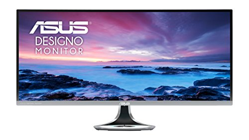 ASUS MX34VQ Designo Curved 34-inch UWQHD (3440 x 1440) 100Hz Freesync Monitor, VA, Harmon Kardon Speakers, Qi Wireless Charging, Flicker Free, Low Blue Light, TUV Certified - Dark Grey