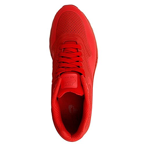 Nike Air Max 1 Ultra Moire, Scarpe sportive, Uomo Rosso/rosso (Varsity Red/Varsity Red)