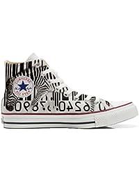 Converse All Star Zapatos Personalizados Unisex (Producto Artesano) Zebra Barcode