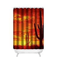 "Dalliy Breaking Sunset Sunset Waterproof Polyester Shower Curtain Shower Curtain 120x 183cm, polyester, E, 48"" x 72"""