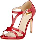 Buffalo Damen Mistletoe PATENT Leather Peeptoe Sandalen, Rot (Red 00), 38 EU