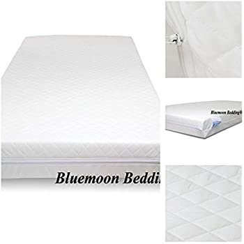 Baby Cot Bed Mattress Replacement COVER Quilted Soft Zipped ALL SIZES