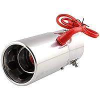Tubo de escape universal para coche y motocicleta Spitfire color rojo, ligero, con punta de flamante, tubo de extensión de tubo recto