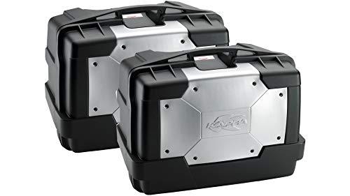 Givi KGR46PACK2 Baúl Lateral, Cover en Aluminio, Cada 46 litros de Volumen...