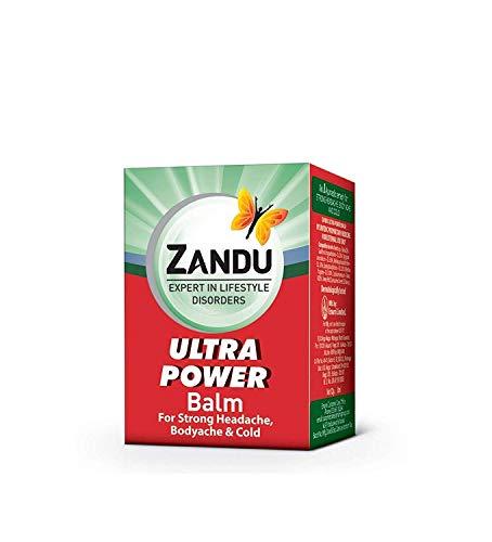 Multipurpose Zandu Ultra Power Balm Solution for Strong Headache Body Ache and Cold (8 Ml)-Set of 4 -