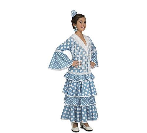 My Other Me – Disfraz de flamenca Huelva para niña, color turquesa (Viving Costumes)
