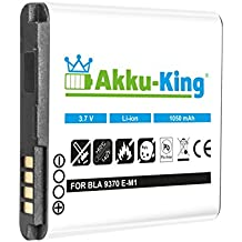 Akku-King batería para BlackBerry Curve 9350, 9360, 9370, Sedona, Apollo - como E-M1, BAT-34413-003 Li-Ion - 1050mAh