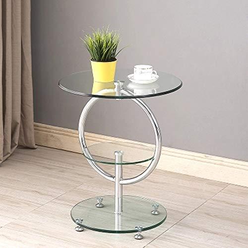 QI-shanping Mode Tisch Gehärtetes Glas Beistelltisch/Schlafzimmer Nachttisch/Blume Stand/Pflanzenstand/Wohnzimmer Ständer / 24,8x15,74 Zoll (Color : A)