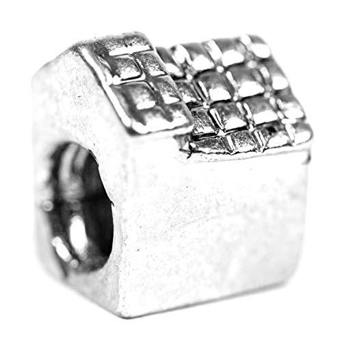 Beads Charms Schmuck Glasperlen Anhänger Unisex Zwischen-Element Ein Haus Glücksbringer Motiv