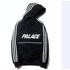 Winter 3M Reißverschluss Reflektierende Kapuzenjacke Sweatshirt Plus Vlieshoodie, Golden_flower, schwarz, XL