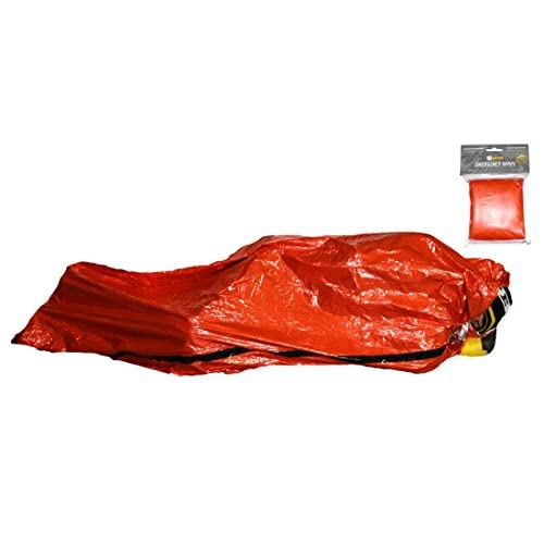 41EbG4%2BJOXL. SS500  - Rat Race Emergency Waterproof Orange Survival Bivvy Bag - Lightweight Thermal Foil Sleeping Blanket