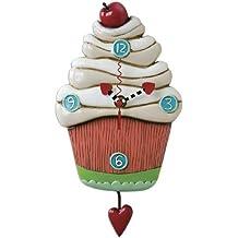 Allen Designs P1214 Orologio Cupcake Resina, Design di Michelle Allen, 26 cm