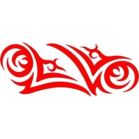 3007__R Pegatina para el coche Establecer tatuajes tribales ( Red)