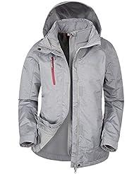 Mountain Warehouse Bracken Melange Damen 3 in 1 Regenjacke Warm Wasserdicht Winterjacke Doppeljacke Funktionsjacke mit Fleece-Innenteil
