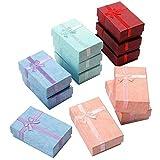 Yaheetech 12x Geschenkbox Geschenkkarton Aufbewahrungsbox Schachtel Schleife Case Schmuck Box