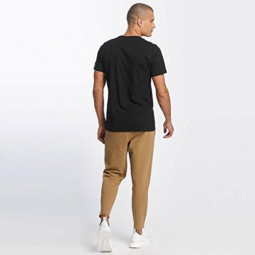New Era Uomo, Originators Visor Tee Black, Cotone, T-Shirt, Nero Nero