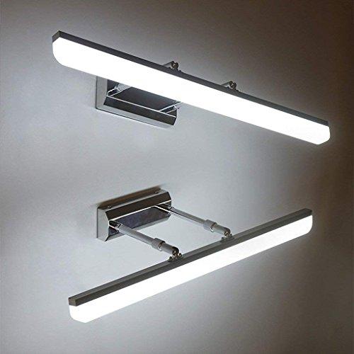 Wall lamp LED Miroir Cabinet Lampes Spéciales, LED, Rétractable, Lumière De Lavabo Chambre Lavable, Imperméable À l'eau Et Brouillard Miroir Lumineux,Lumière blanche-16w / 80cm
