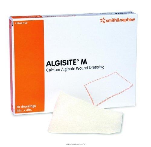 AlgiSite M Calcium Alginate Dressing, Algisite M Drs 4X4in, (1 BOX, 10 EACH) by SMITH & NEPHEW INC. -