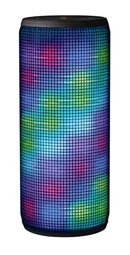Trust Dixxo Enceinte Bluetooth Portable sans Fil avec LED Illumination (20 Watt) - Gris