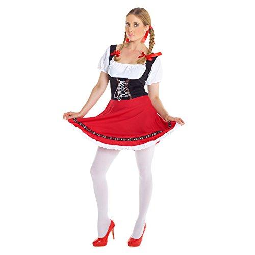 (Unbekannt Deutsches Lederhosen für Damen Oktoberfest Dirndl Kostüm - X-Groß 42-44)